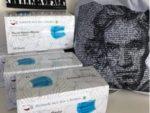 Mund-Nasen Maske hellblau 95x170mm-50er Box plus Stadt-Beutel