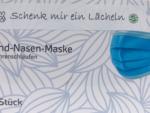 Mund-Nasen Maske hellblau 95x170mm-50er Box Troepfchenfaenger